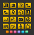 Media and communication icons gummy theme vector | Price: 1 Credit (USD $1)