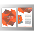 Abstract Brochure Template Business polygon vector image vector image