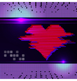 Abstract heart monitor on a dark background vector image vector image