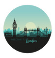 abstract round cityscape london with sights vector image vector image