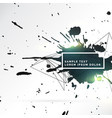 abstract splash of ink background vector image vector image