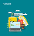 airport concept flat style design vector image vector image