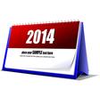 al 0707 desk calendar vector image