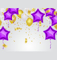balloons and confetti party background concept vector image vector image