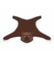 Bear pelt Big brown bear Grizzly hide Hunting vector image vector image