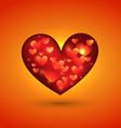 beautiful heart vector image vector image