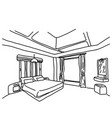 bedroom sketch doodle hand drawn vector image