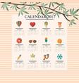calendar 2017 season vector image vector image