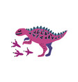 card template with cute dino hand drawn vector image vector image