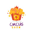 circus show logo design template carnival vector image vector image