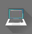 dark interface on laptop on vector image vector image