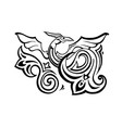 dragon traditional ethnic vector image vector image