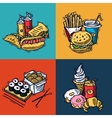Fast Food Design Concept vector image
