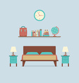 Flat Design Bedroom Interior vector image