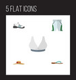flat icon dress set of sneakers elegant headgear vector image vector image