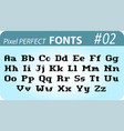 font in pixel style vector image vector image