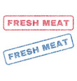 fresh meat textile stamps vector image vector image