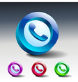 glass icons green talking telephone phone vector image vector image