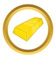 Gold ingot icon vector image vector image