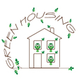 GREEN HOUSING vector image vector image