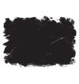 Grunge black frame vector image vector image