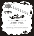 Halloween invitation vector image