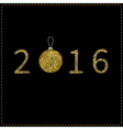 Happy New year 2016 Numbers and Christmas ball