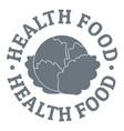 health food logo simple style vector image