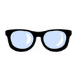 hipster glasses icon vector image