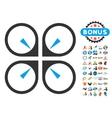 Hover Drone Icon With 2017 Year Bonus Symbols vector image vector image