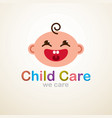 icon logo smiley face baby child kid young vector image