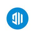 initial letter jii circle logo creative geometric vector image vector image