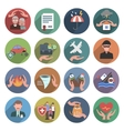 Insurance Icons Flat Set vector image vector image