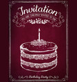 invitation card to event or birthday retro vector image