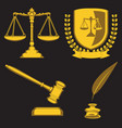 law firm justice scale and gavellaw firm scales vector image vector image