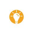 light bulb symbol logo template vector image vector image