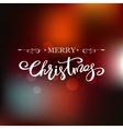 Merry Christmas card Holiday lettering design vector image