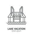 Modern Line Style Sauna Logotype Template vector image vector image