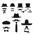 Mustache and hats set vector | Price: 1 Credit (USD $1)