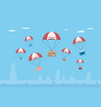 objects with insurance parachute vector image