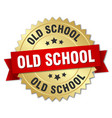 old school round isolated gold badge vector image vector image