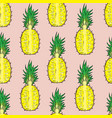 pattern cut pineapple on a pink background vector image
