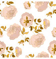 peony flower luxury seamless pattern vector image vector image