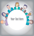 People Circle vector image vector image