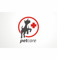 pet care design logo logotype pet dog vector image