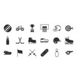 pictograph sport equipment related icons set vector image vector image