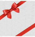 red ribbon and bow isolated transparent background vector image