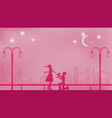 romantic paper art concept or paper cutting style vector image vector image