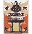 Samurai Military Poster vector image