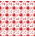 scandinavian cross stitch pattern with snowflake vector image